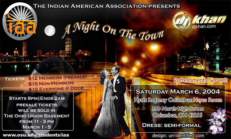 A Night On The Town Flyer