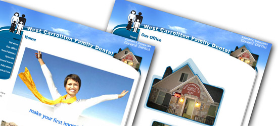 West Carrollton Family Dental Web Site Preview.